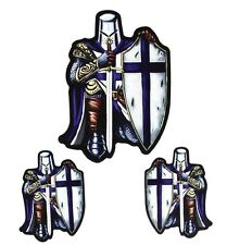 BLUE Cavaliere Crociato in Vinile Adesivi Decalcomanie per le cisterne, paraurti, finestrini, i caschi