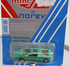 Norev MiniJet Maserati Boomerang Green / Turquoise 1/64 scale 2.6 inches