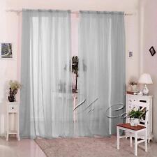 Voiles Doble barra de cortina Varios tamaños 2 ranuras Top Gaulle Paneles