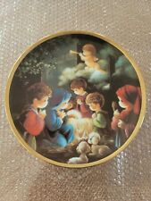 """Precious Moments """"Come Let Us Adore Him"""" Hamilton Bible Story Collection Plate"""