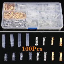Pack de 400 3.9mm Moto Laiton Bullet Mâle et Femelle Fil Connecteur avec Housses