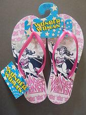 Wonder Woman Damen Flip Flops Zehentrenner Sandalen Badeschuhe S 36-37 DC Comics