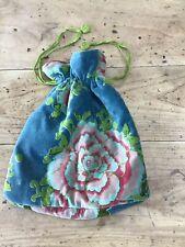 Velvet Floral Drawstring Bag