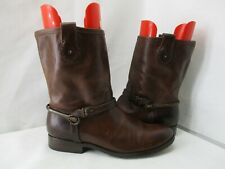 Frye Brown Leather Harness Biker Boots Womens Size 8.5 B Style 77104