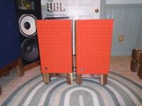 Custom JBL Control Studio Monitors L100 L-100 Solid Walnut Speaker Stands