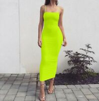 Tight Evening Sleeveless Cocktail Women's Summer Solid Dress Long Dresses Party