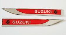 SUZUKI Emblem Badge Sticker Wing Fender Metal Red Ignis Vitara Baleno Jimny