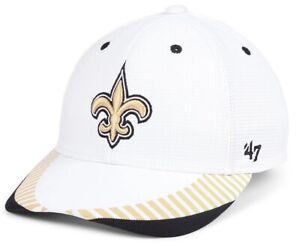 New Orleans Saints '47 White Tantrum Contender Hat Cap Men's Stretch Flex Fit