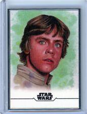 2020 Topps Star Wars Stellar Signatures Art Sketch /100 #2 Luke Skywalker