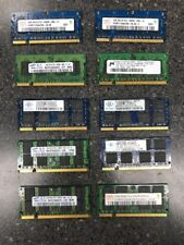 Lot of (60) Pcs  PC2 5300/6400  1GB Laptop RAM Memory Mixed Brand Tested Good