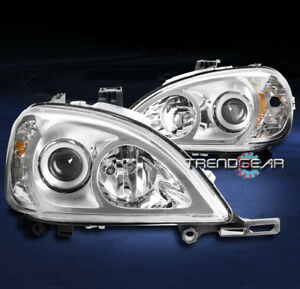 FOR 1998-2005 MERCEDES-BENZ W163 ML350 ML500 CHROME PROJECTOR HEADLIGHT HEADLAMP
