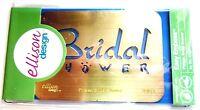 Bridal Shower Sizzix Brass Stencil Embossing Folder by Ellison Design 22123 NEW!