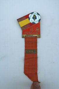 Coupe du Monde de Football Espagne 1982 Insigne Tirage au Sort Officiels Pelé