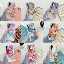 For Samsung Galaxy S8 S9 S10e Plus Note 9 10 Marble Flower Stand Holder TPU Case