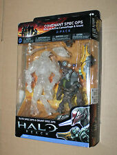 Halo Reach COVENANT SPEC OPS ELITE IN ACTIVE CAMOUFLAGE & GRUNT Action Figure