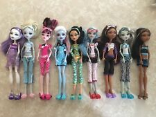 "Monster High 11"" Doll Complete Set DEAD TIRED Lagoona Robecca Clawdeen Abbey Lot"