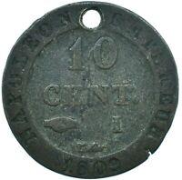 COIN / FRANCE / 10 CENTIMES 1809 NAPOLEON EMPEROR  #WT24571