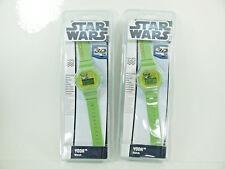 LOT OF 2 Star Wars YODA Digital Watch 3D Dial IN GREEN