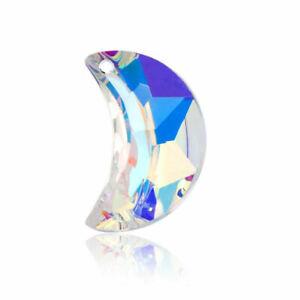 Natural Quartz Moon Crystal Pendant Chakra Healing Gemstone Necklace Jewelry UK