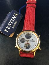 NOS NEW Festina ORO Chronograph reloj watch vintage chrono