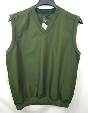NWT CUTTER & BUCK Polyester Olive Green Pullover V-neck WIND VEST Men's Medium