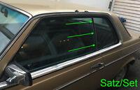 Satz Mercedes W123 C123 Coupé CE CD Abdichtung Dichtung Fondfenster A1236730024