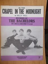 VINTAGE SHEET MUSIC - IN THE CHAPEL IN THE MOONLIGHT - THE BACHELORS