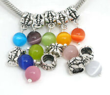 50 European Mix Katzenauge Glas Dangle Perlen Beads B05043