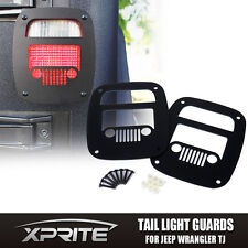 Xprite Black Grille Tail light Cover Guard For 1987-2006 Jeep Wrangler TJ YJ