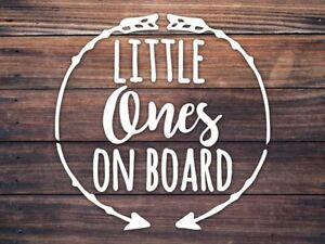 Baby On Board Car Window Decal - Little Ones On Board Decal - Boho Baby Twins
