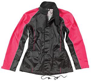 Joe Rocket Women's RS-2 Rain Suit Lg Black/Pink