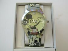 """DISNEY MICKEY MOUSE MEN""""S WATCH WITH COMIC STRIP BAND MK5035"""