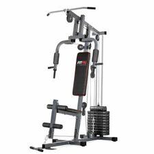 FITFIU 1110028 Maquina Multiestacion Musculacion Еntrenamiento Gimnasio Pesas Fitness - Negro, Gris y Rojo
