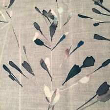 "2 Metres 'Nerine' John Lewis Fabric 93% Cotton 7% Linen 56"" Wide Grey Blue Pink"