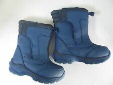 Boys Girls Toddlers Size 8M 8 Medium Snow Rain Winter Boots Lands End Blue Insul