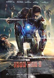 Iron Man 3 Poster Locandina Cinema Pieghevole 100 x 70 Circa Nuovo Come da Foto