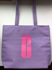 CLINIQUE Tote Bag Purple Logo Purse Makeup Shoulder Shopping Travel Beach Canvas