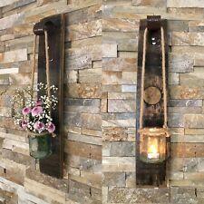 Sconce - Rustic Decor - Wall Lantern - Wall Vase - Oak Whisky Barrel -