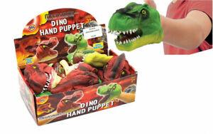 DINO DINOSAUR RUBBER HAND PUPPET BROWN T-REX