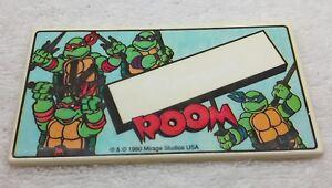 1990 TMNT Name Wall Door Sign Sticker Teenage Mutant Ninja Turtles BLANK Room