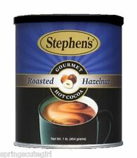 1 CAN Stephen's Gourmet Hot Cocoa ROASTED HAZELNUT Drink Mix 1 lb LIMITED RARE