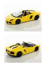 1:18 MR Collection Models Lamborghini Aventador LP700-4 Roadster Yellow RARE NEW