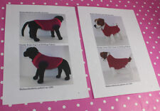 BARGAIN 2 x KNITTING PATTERN INSTRUCTIONS- 2 X CHUNKY DOG COAT KNITTING PATTERNS