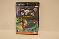 Jimmy Neutron: Boy Genius (Sony PlayStation 2, 2002) PS2 GAME COMPLETE w/MANUAL