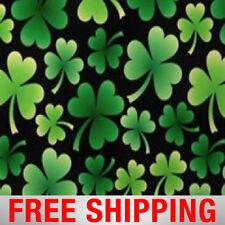 "Fleece Fabric Shamrock Clover Irish St Patrick 60"" Wide Free Shipping 6360"