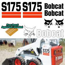 Bobcat S175 Skid Steer Set Vinyl Decal Sticker 7 PC SET + FREE DECAL APPLICATOR