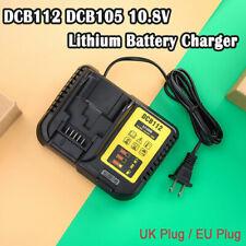 DCB112 DCB105 10.8V 14.4V 18V/20V ADATTA PER DEWALT Li-ion batteria al litio UK Plug