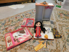 Vtg LOT Kenner Working Blythe Doll w 5 Outfits 2 NEW Hangers & Boutique Box Case