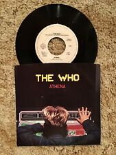 The Who Athena 7 Inch Vinyl Single 45 Warner Brothers 1982