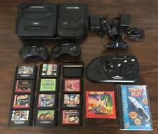 Sega Genesis Cd Model 2 Console Bundle Lot Games Controllers Tested Contra Sonic
